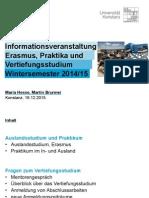 2014 ERASMUS Info Veranstaltung