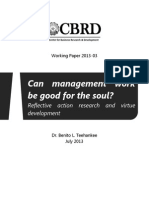 Can management work be good for the soul? Reflective action research and virtue development