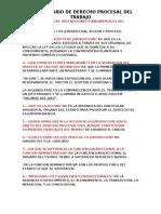 Derecho Procesal Del Trabajo Preguntas Del Primero 1 Al 5
