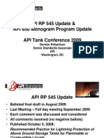 API RP 545 Update API 650 Monogram Program Update