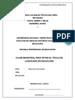 Clase Magistral . Estructura de La Clase