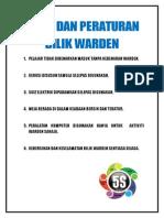 Etika Dan Peraturan Bilik Warden