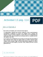 Actividad 13 Pág 114