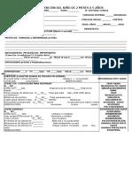 Formulario de Registro 2 Meses a 5 Años