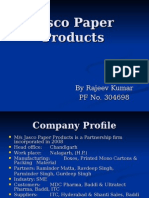 Jasco Paper Products Credit Proposal