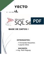 Proyecto Final Base de Datos