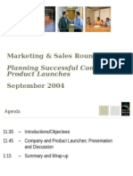 Planning Successful Company and Product Launches