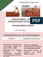 1. Aula 1_Apresentação Nut Mat e Infantil_ FASE 2015
