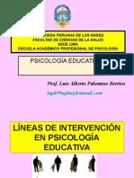 Areas de Accion de La Psicologia Educativa.