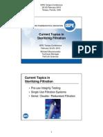 Current Topics in Sterilizing Filtration