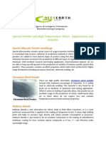 Special Powder and High Temperature Alloys - Applications and Benefits