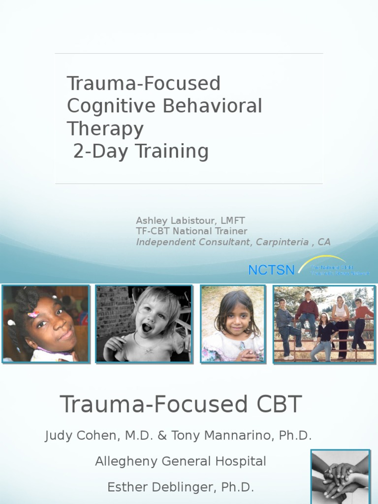 Workbooks tf cbt workbook for children : 2-day traning | Psychological Trauma | Cognitive Behavioral Therapy