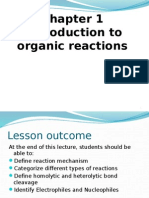 Introduction to Reaction Mechanism