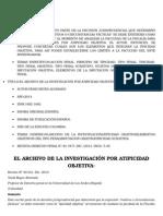 REYES ALVARADO, Yesid. El Archivo de La Investigación Por Atipicidad Objetiva.