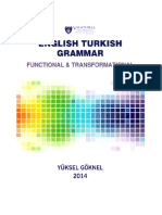 English Turkish Grammar Functional & TrATURKISH GRAMMAR WRITTEN IN ENGLISHansformational, Colored New Edition 2015