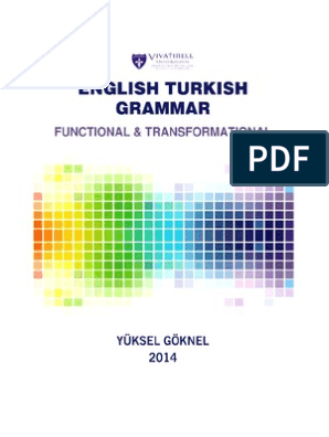 English Turkish Grammar Functional Traturkish Grammar Written In