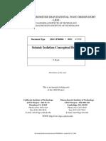 Seismic Isolator Conceptual Design