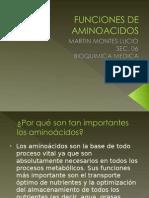 Funciones de aminoacidos