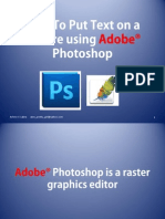 How to Put a Text on a Picture using Adobe Photoshop