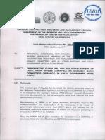 dbm joint memo circular 2014-1 jmc2014-1  ldrrmos