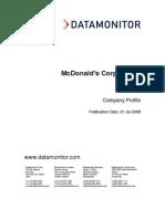 McD's SWOT Analysis (2008)