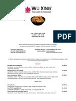 Old Wuxing menu 2010