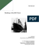 Metallurgy of the RMS Titanic
