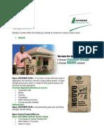 Bamburi Cement Guide