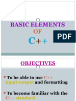 Lec02_Basic Elements C++