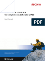 TEMS Pocket Classic 6.3 for Sony Ericsson C702 and W760 -- User's Manual