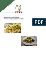 Menu Cucina Vegetariana con Kcal e valori nutrizionali