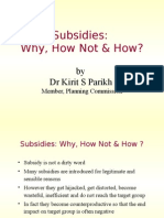 Subsidy system