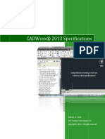 CADWorx 2013 Specifications
