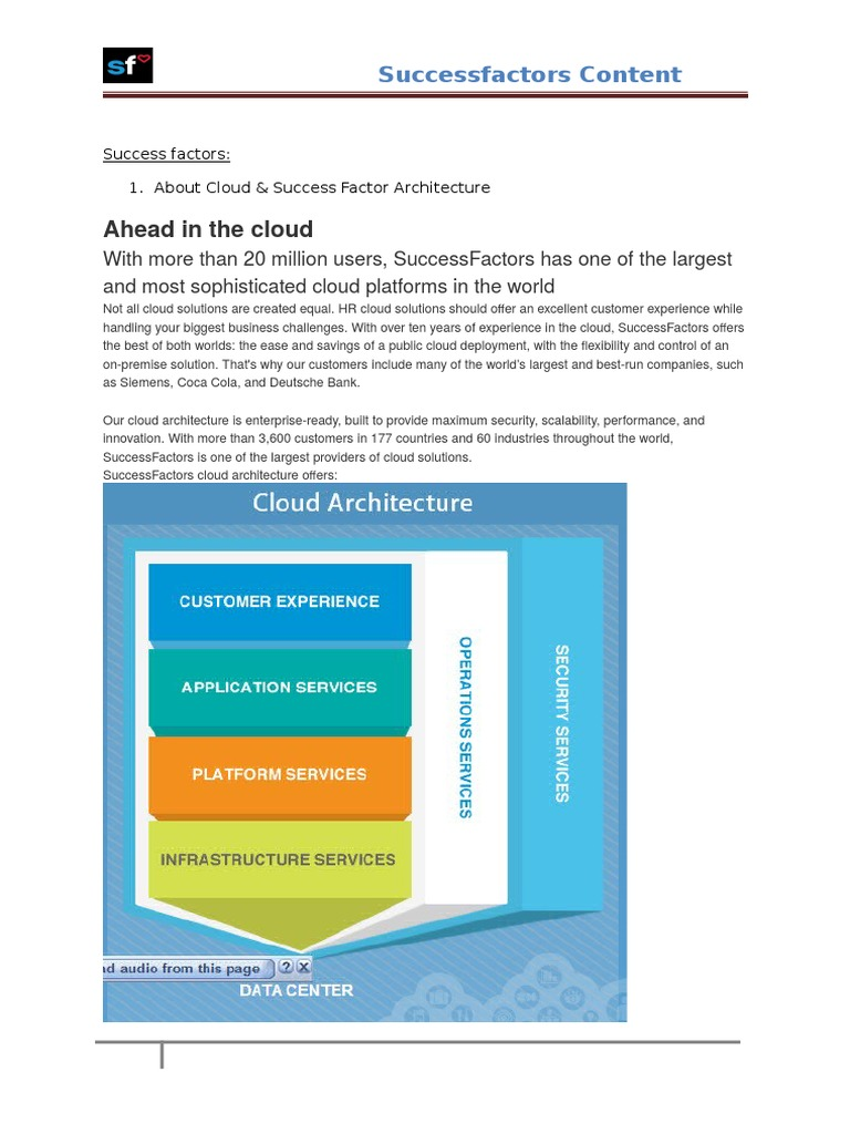 Successfactors Content   Cloud Computing   Business Process