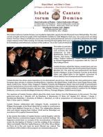 Concert Programs Cantate Domino Bulgaria 2013