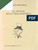 Charles Baudelaire Pintor de La Vida Moderna