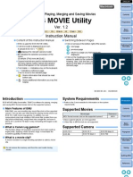 EOS Movie Utility Instruction Manual for Macintosh En