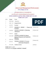 Schedule ICFBM