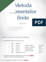 Metoda Elementelor Finite - Introducere