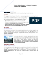 Case Study-Role of Cement Market Research in Strategy Formulation