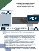 INSPECCIÓN Y OPERATIVA DE LOS EVENTOS EN MADRID