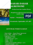 dasar - dasar agronomi