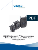 Vacon X5 DeviceNet Board Installation Manual DPD00