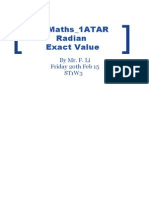 lesson plan 3 radian and exact value