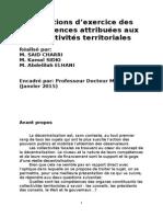 Exposé 3 Conditions D_exercice Des Compétences Attribuées Aux Collectivités Territoriales