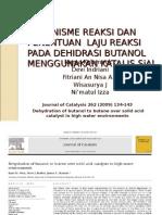 Dehidrasi Butanol