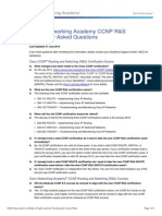 CCNP R&S FAQs
