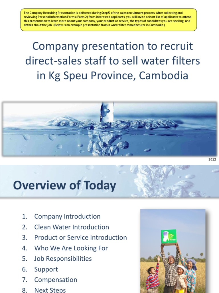 5  Company Recruiting Presentation Proofread | Cambodia | Sales