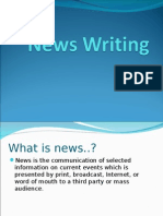 News Writing - Powerpoint