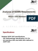 08 - SA5 Analysis of NGMN Requirement 8 - OSS Standard Itf-N.ppt